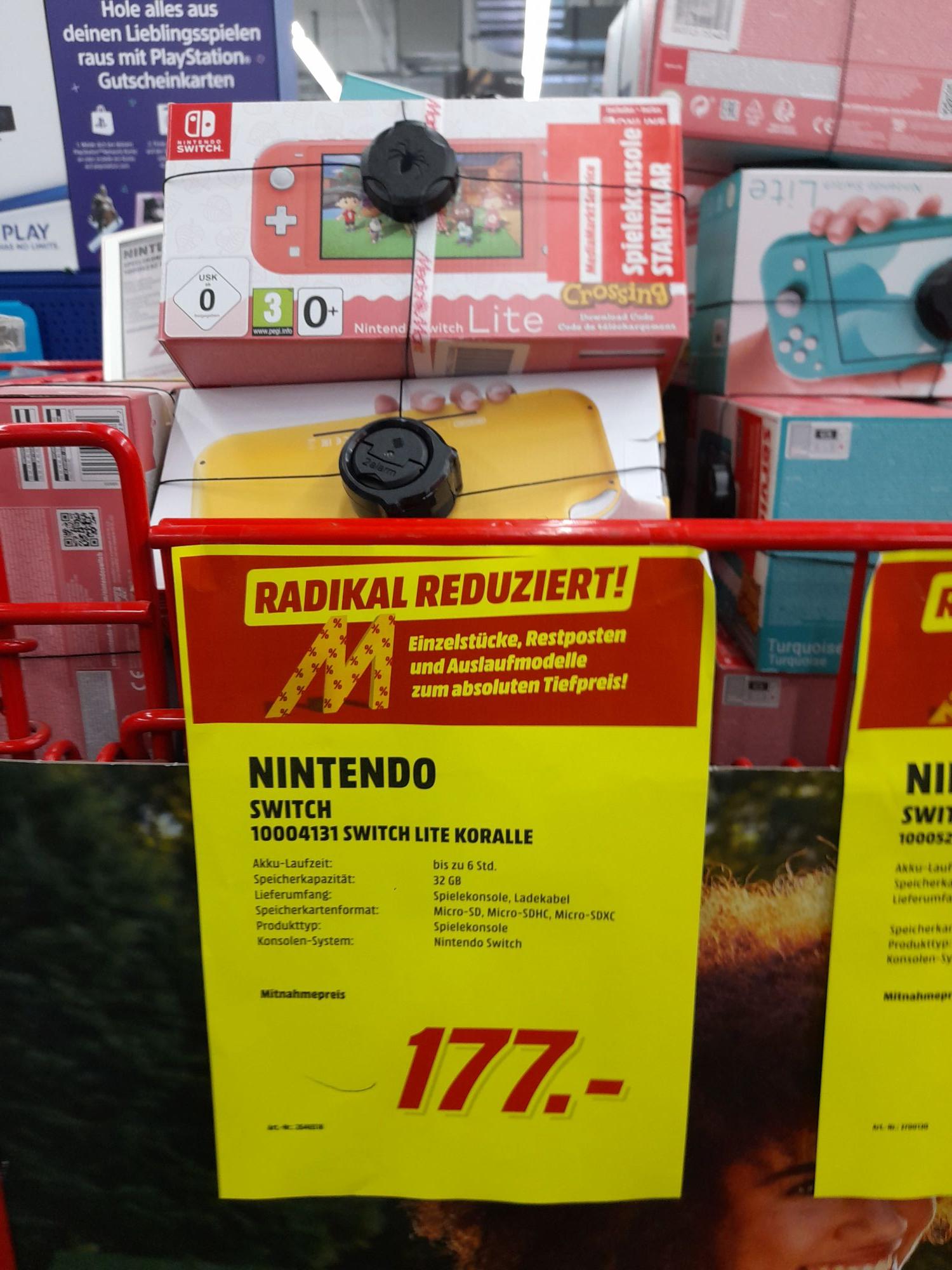 (Lokal Media Markt Düsseldorf Arkaden) Nintendo Switch Lite in Koralle für 177€