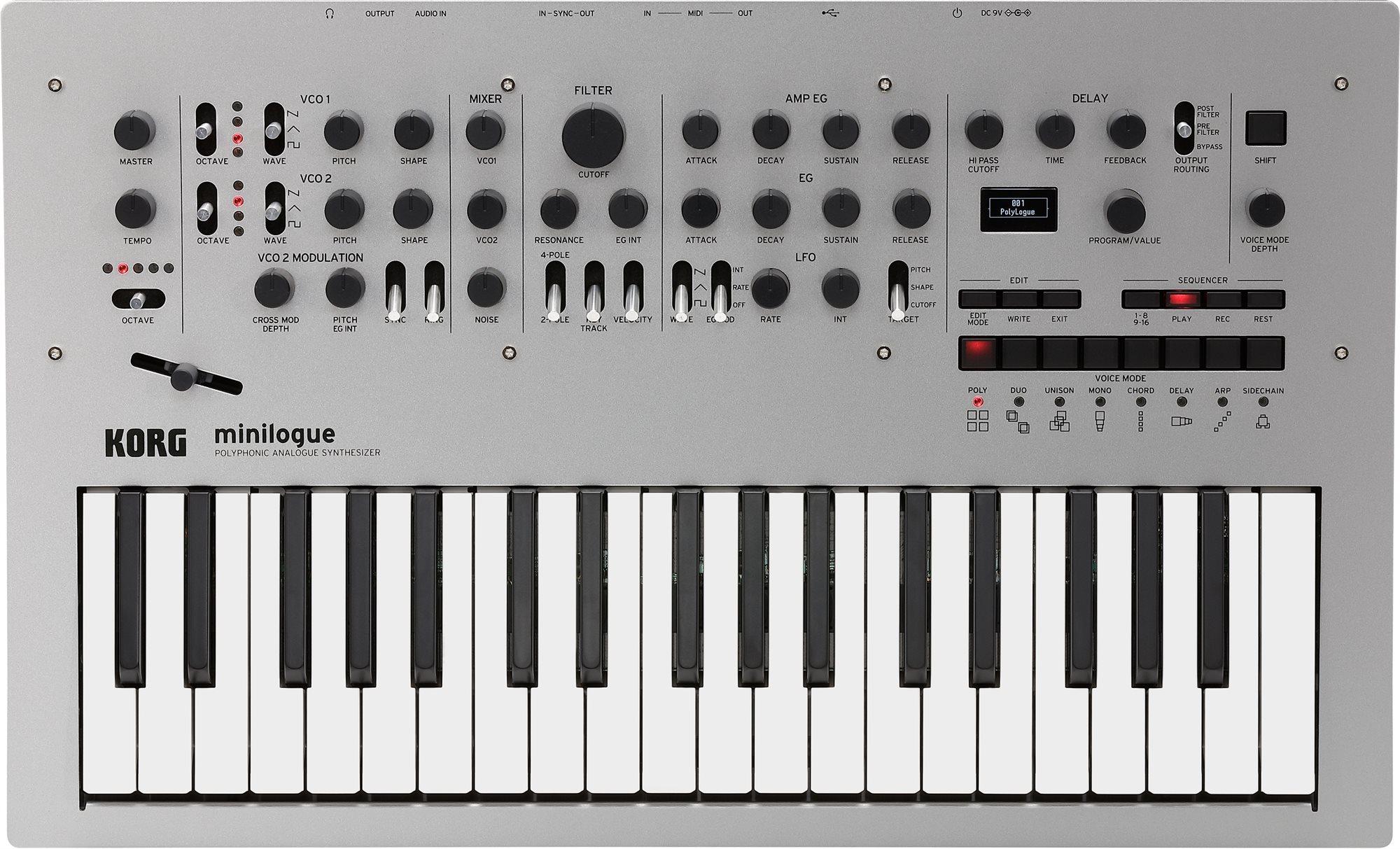 KORG Minilogue polyphoner Analogsynthesizer [Musikinstrumente]