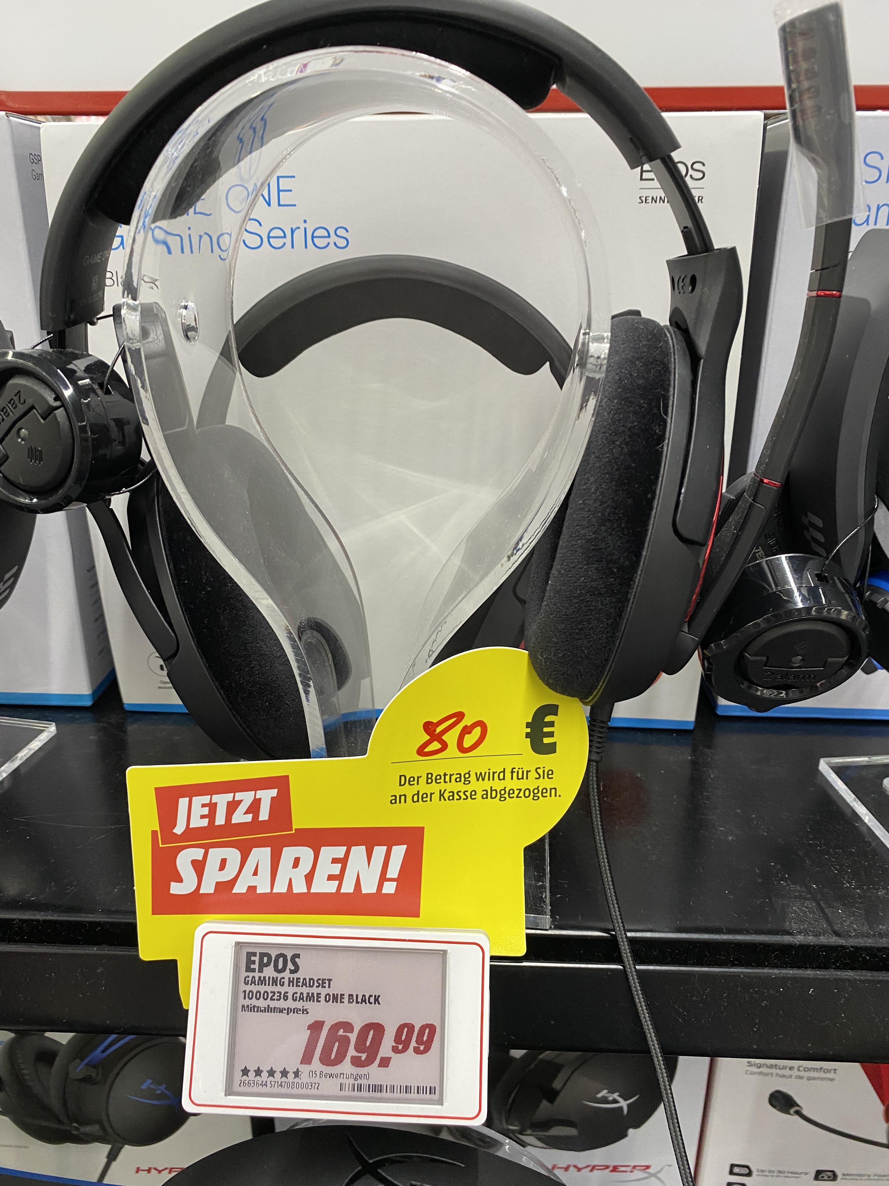 [Lokal Mediamarkt Leer] Epos Sennheiser Game One - Offenes Premium Gaming Headset