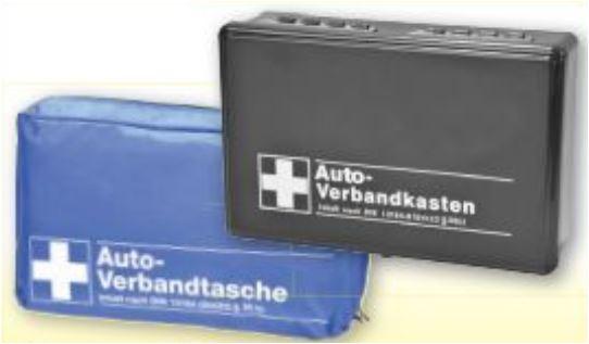 KFZ-Verbandtasche nach DIN 13164 für 3,99 Euro und KFZ-Verbandkasten für 5,99 Euro [Zimmermann-Filiale]