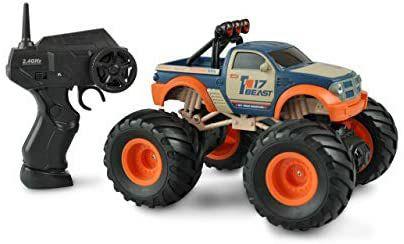 Amewi RC Big Buster Monstertruck 1:18, ferngesteuert, 2,4GHz, RTR, orange/blau [Amazon Prime]
