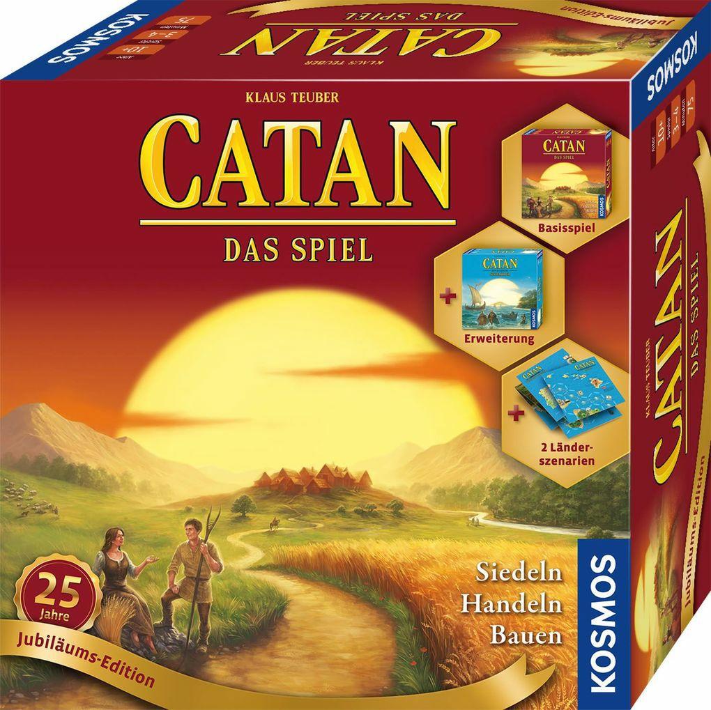 KOSMOS - Catan - Das Spiel - Jubiläums-Edition, 3-4 Spieler, ab 10 Jahren [ebook.de]