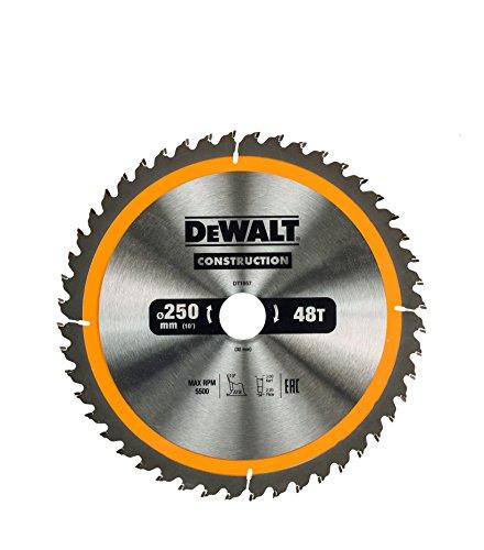 [Amazon] DEWALT DT1957 250/30 mm 48 WZ, universal Blatt für Quer- und Längsschnittergebnisse mit Gutschein