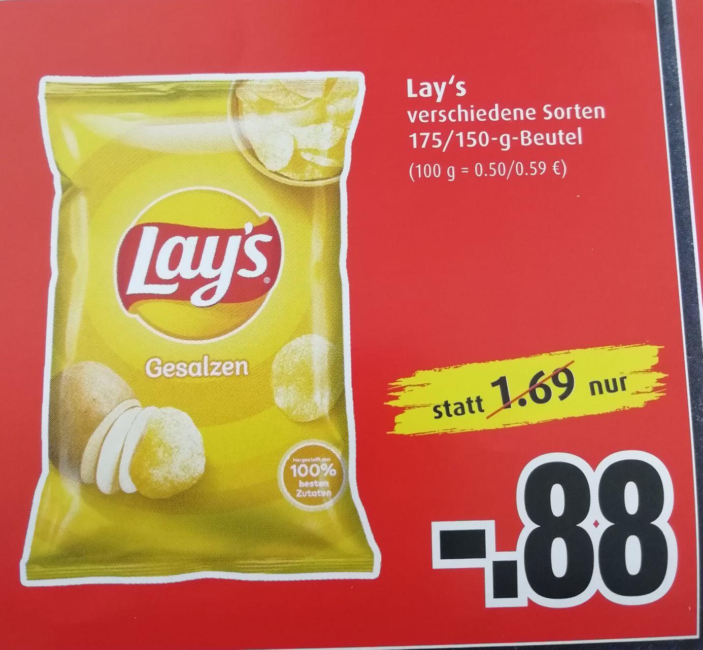 [Markant] Lay's Chips verschiedene Sorten 175/150g am 09. + 10.07.21