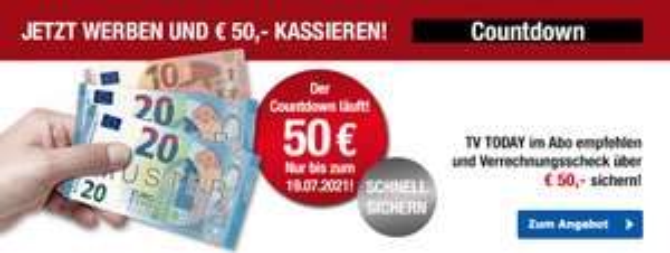 TV Today Jahresabo mit 50€ Prämie
