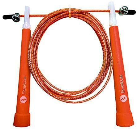 sveltus, Rope Skipping Speed Springseil für Erwachsene, Unisex, Orange, ca. 300 cm, Länge verstellbar [Amazon Prime]
