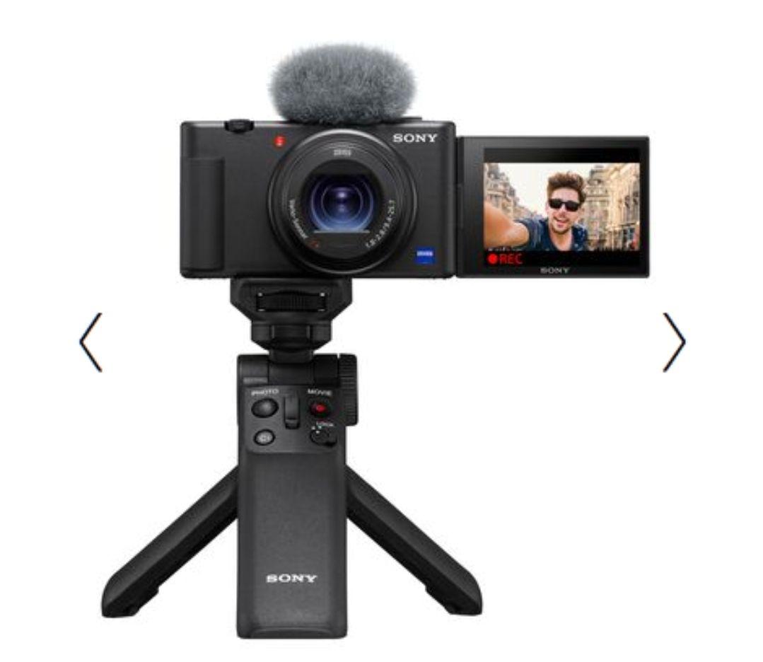 Sony Vlog-Kamera ZV-1 + Bluetooth-Griff.80 Euro Direct Abzug und 100 Euro Cashback
