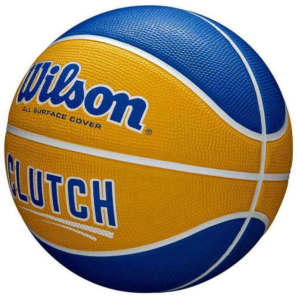 Wilson CLUTCH Basketball Gelb-Blau, Größe 7, für alle Beläge [Kaufland/Amazon Marketplace]
