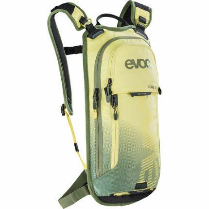 Evoc - Stage Trinkrucksack 3 L, inklusive 2L Trinkblase, Farbe Yellow/Light Olive, 670g, Maße: 21 x 44 x 4 cm [wigglesport.de]