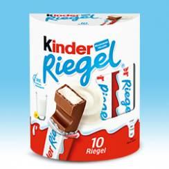 [REAL & TEGUT] Kinder Riegel 10er-Pack für 0,75€ (Angebot + Coupies Cashback)