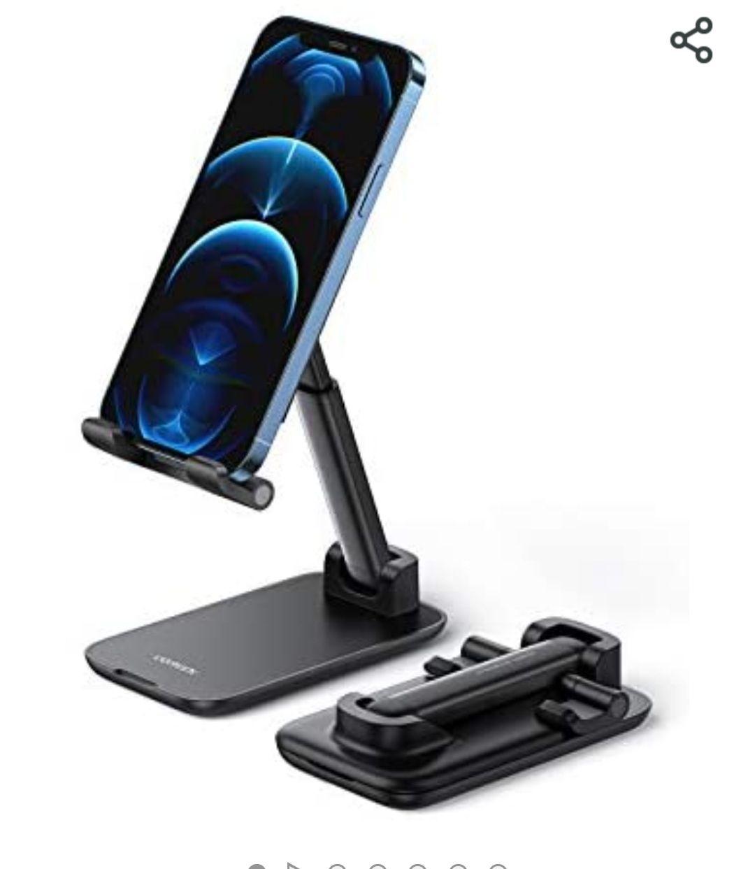 """[Amazon Prime] UGREEN Handyhalter für den Tisch, klappbarer und höhenverstellbarer Smartphone Ständer passend von 4"""" bis 7,2"""""""