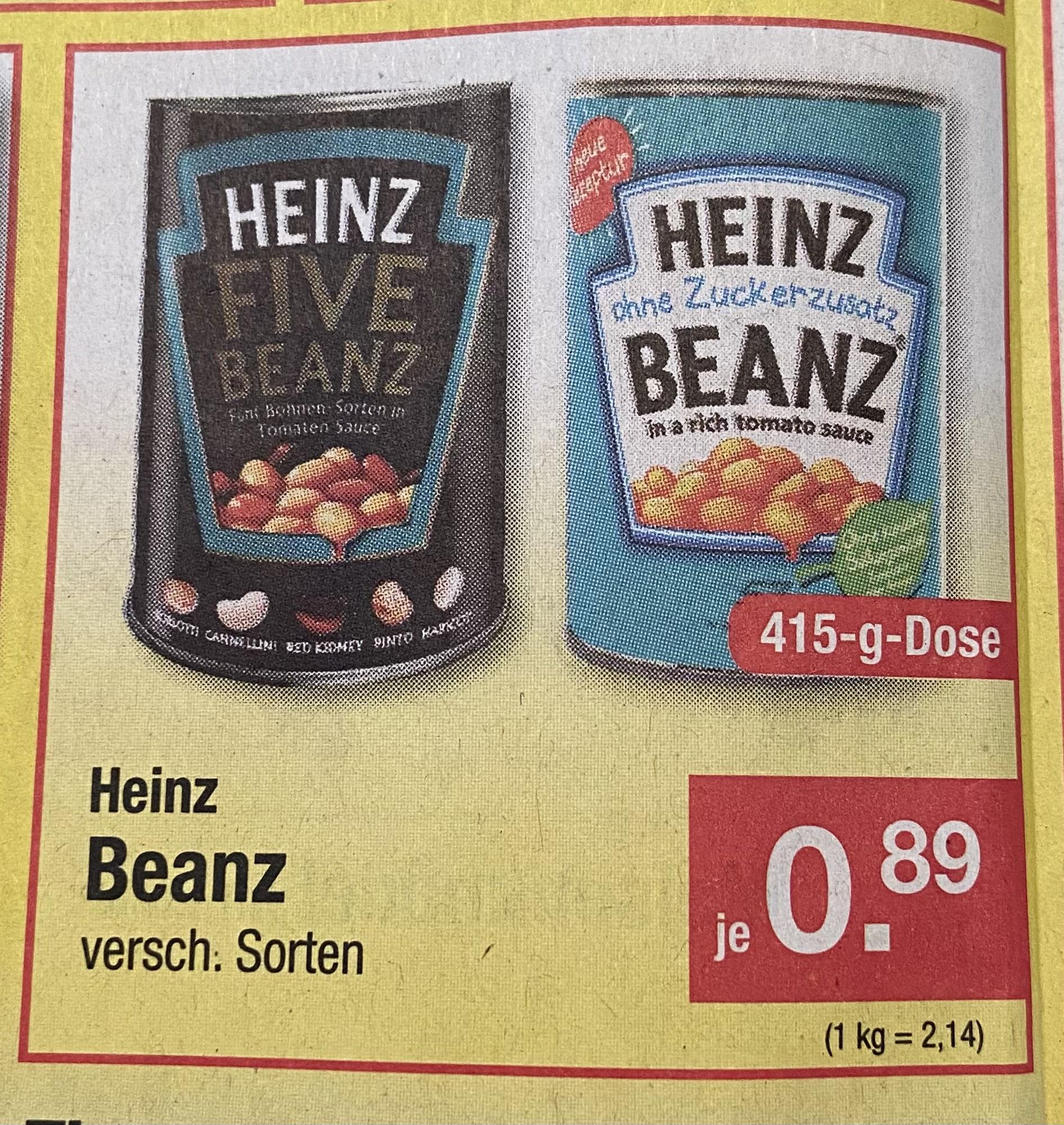 [Zimmermann] Heinz Baked Beans versch. Sorten