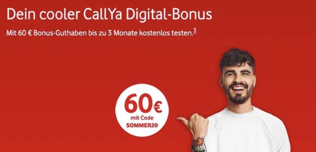 *WIEDER DA!* Vodafone Prepaid CallYa Digital 12 Wochen kostenlos (10 GB LTE Max, Allnet- & SMS-Flat, VoLTE)