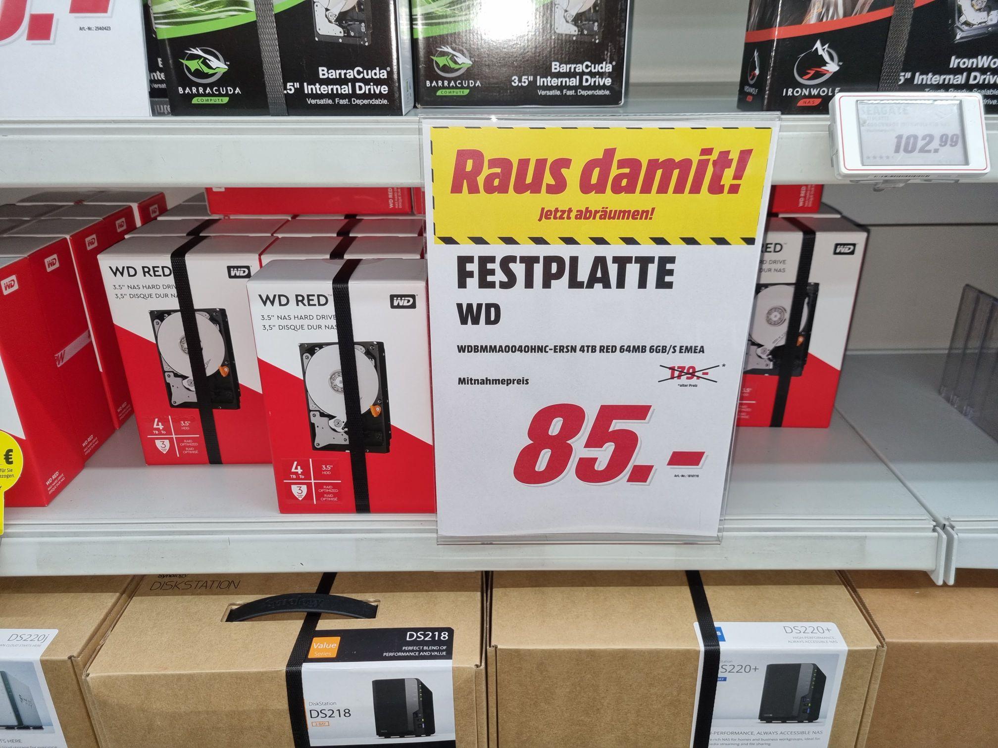 """WD Red 4 TB 3,5"""" Festplatte (Lokal Bielefeld)"""