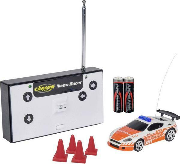 RC-Sammeldeal, z.B. CARSON 1:60 Nano Racer Feuerwehr 27MHz 100% RTR Spielzeugmodell, Weiß/Orange [Media Markt/Amazon/Thalia]