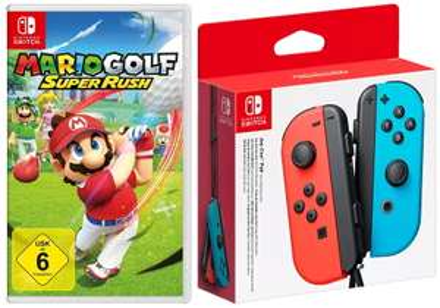 Mario Golf: Super Rush + Nintendo Switch Joy-Con 2er-Set (4 Farben zur Auswahl)