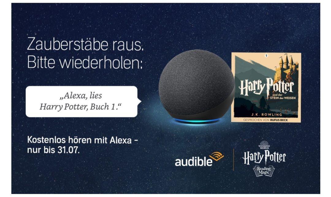 Amazon.de Prime Alexa Echo   Harry Potter und der Stein der Weisen (Hörbuch) kostenlos bis 31.07