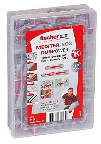 fischer Dübel Meister-Box DUOPOWER kurz/lang, Dübelbox mit 150 Teilen