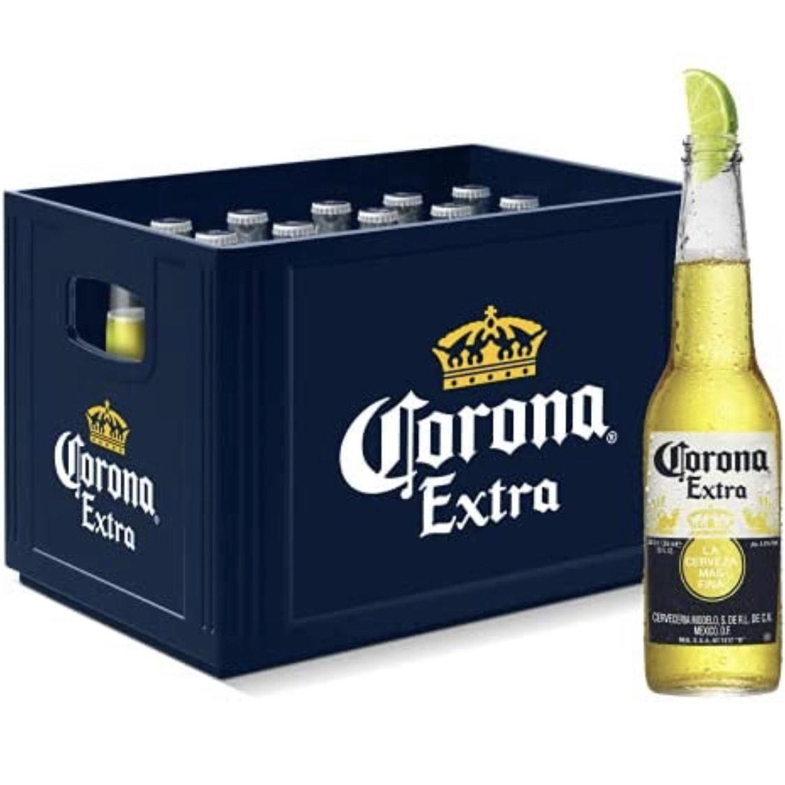 (Prime) Corona Extra (24 x 0.355l) Premium Lager Flaschenbier im Kasten