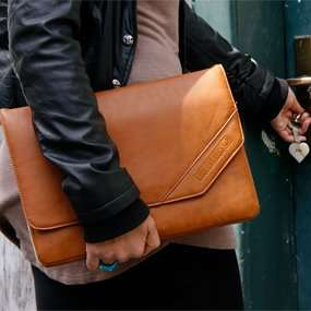 "[amazon Marketplace] Schutzhülle Laptoptasche für 12"" iPad/MacBook/Notebooks (Kunstleder) Retro-Leder-Look"