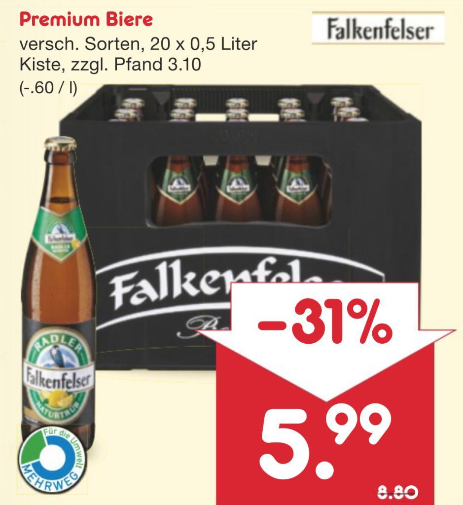[NETTO MD] Falkenfelser Biere (je 20 x 0,5l, vers. Sorten)