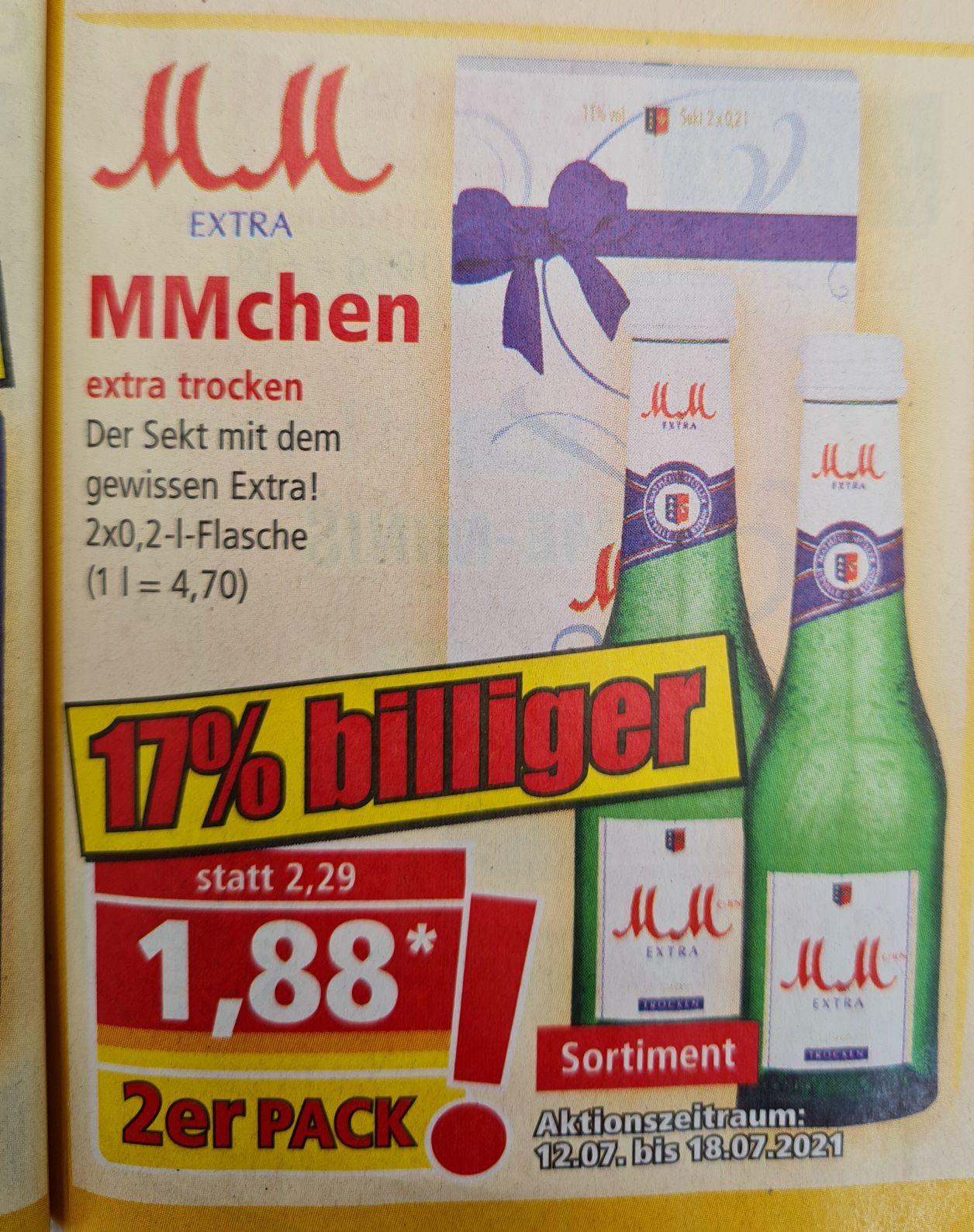 MMchen extra trocken 2x0,2 l Flasche und Corona Extra Bier 6x0,355 la für 4,99€ ab 12.07 Norma