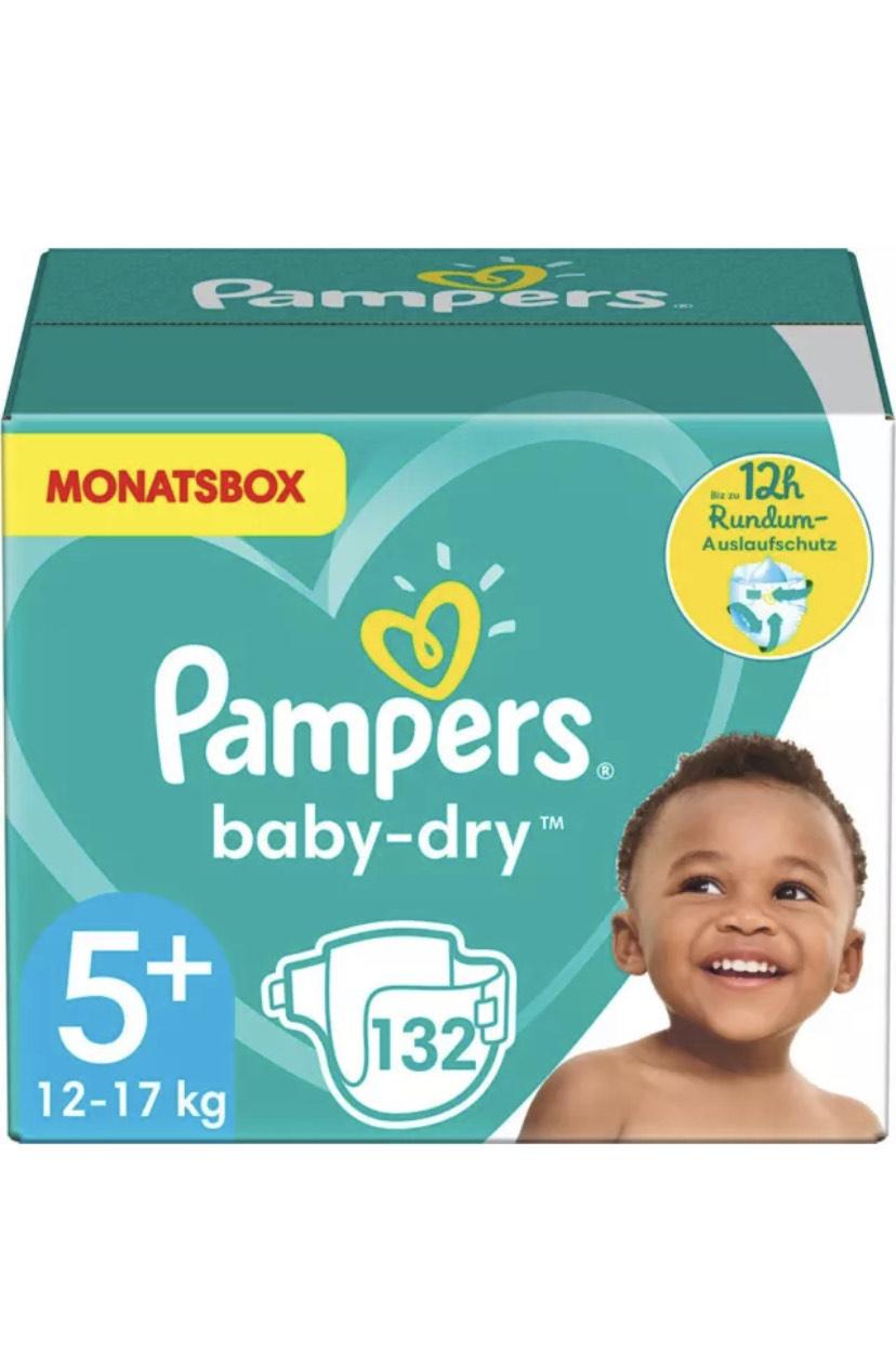 Pampers Baby Dry Baby Windeln Junior Plus Monatsbox 132 Stück Gr. 5+ 12-17kg mI (Neu: Sonstige)