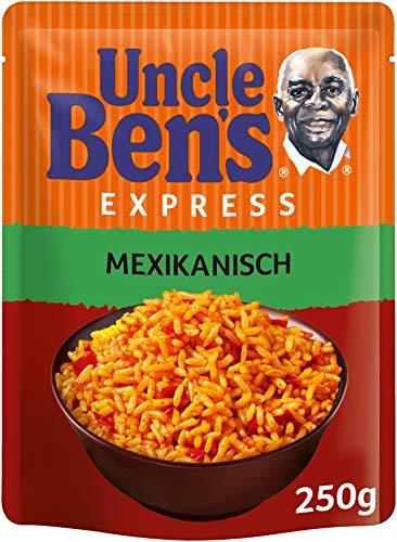 """Amazon Prime: 5x (je 1,13€) Uncle Bens Express Reis """"mexikanisch"""" oder """"mediterran"""" im 250Gramm Beutel, 5 Beutel ergeben insgesamt 1,25Kg"""