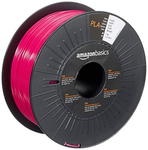 Amazon Basics 3D-Drucker-Filament aus PLA-Kunststoff, 1,75 mm, Violett, 1-kg-Spule für PRIME Kunden