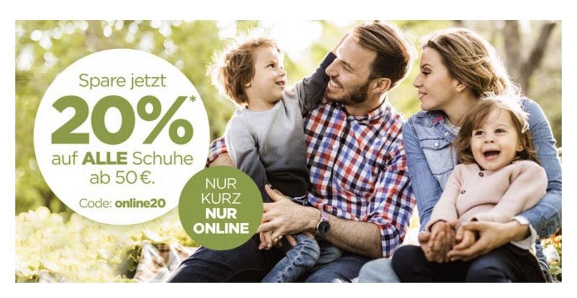 Reno [Online] 20% auf alle Schuhe ab 50€/ bis zu 30% mit Anmeldung im Reno Club