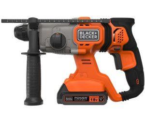 Black+Decker 18V SDS-plus Akku-Kombihammer (1,2 Joule, für effektives Bohren, Schlagbohren und leichte Meißelarbeiten
