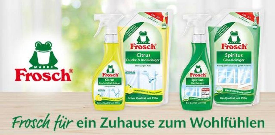 [Coupies] 1,50€ Rabatt beim Kauf eines Nachfüll-Pakets von Frosch Bio | bei Rossmann eff. für 1,90€ statt 4,08€ (inkl. 10% Coupon)