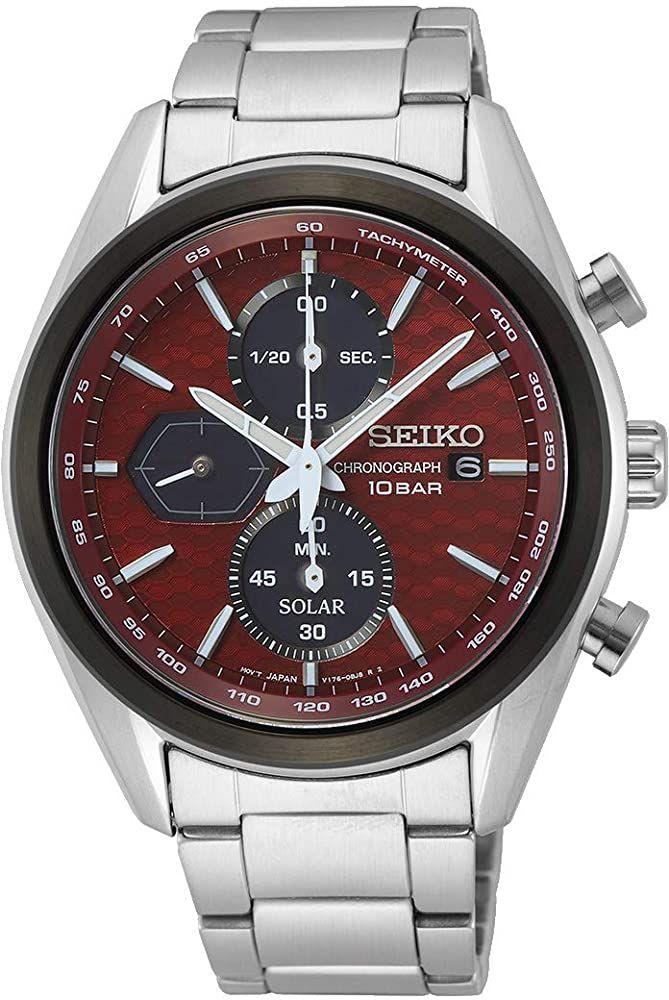 Seiko Prospex Divers Solar Chronograph SSC769P1 (Edelstahl, Saphirglas, Datumsanzeige, Stoppuhr, wasserdicht 10 bar) Weiß oder Rot