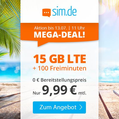 Drillisch KW27 Angebote: z.B. 10GB LTE Allnet Handyvertrag.de Tarif 9,99€ oder 15GB LTE 100 Frei-Minuten sim.de Tarif für 9,99€ [Telefonica]