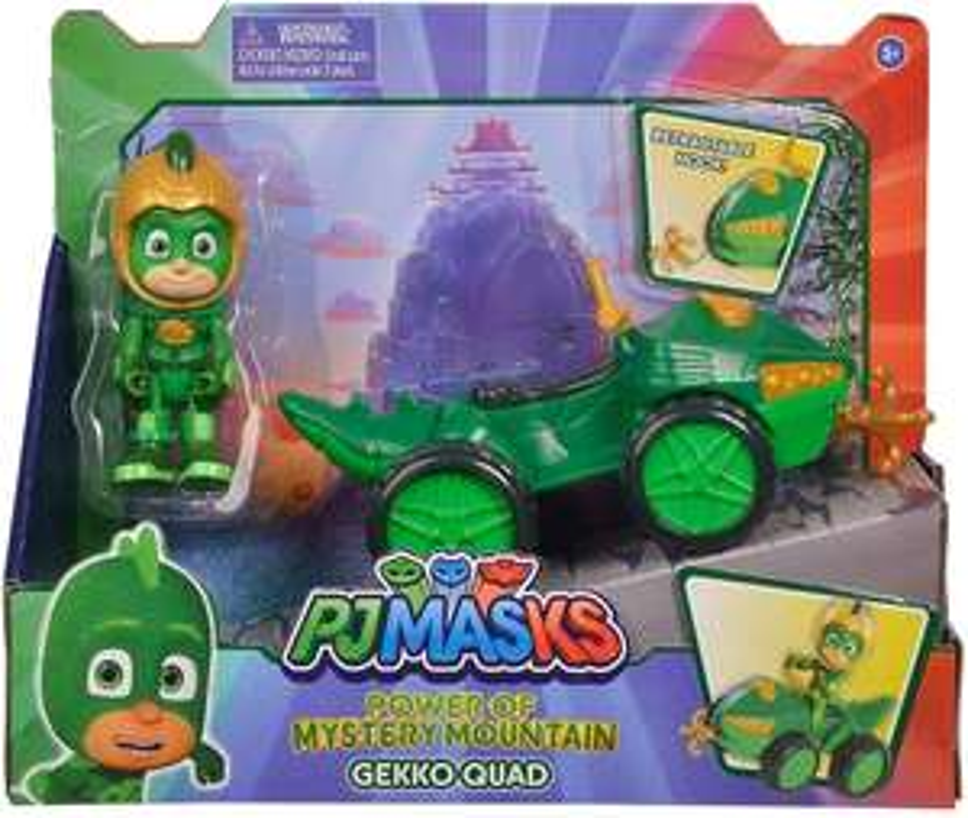 Simba 109402422 - PJ Masks Quad Gecko / mit Superhelden Action Figur / mit integrierter Seilwinde [Prime]