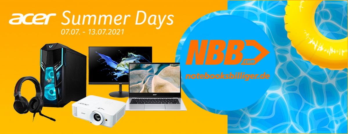 NBB Acer Summer Days: Diverse Monitore, Beamer, PCs & Zubehör