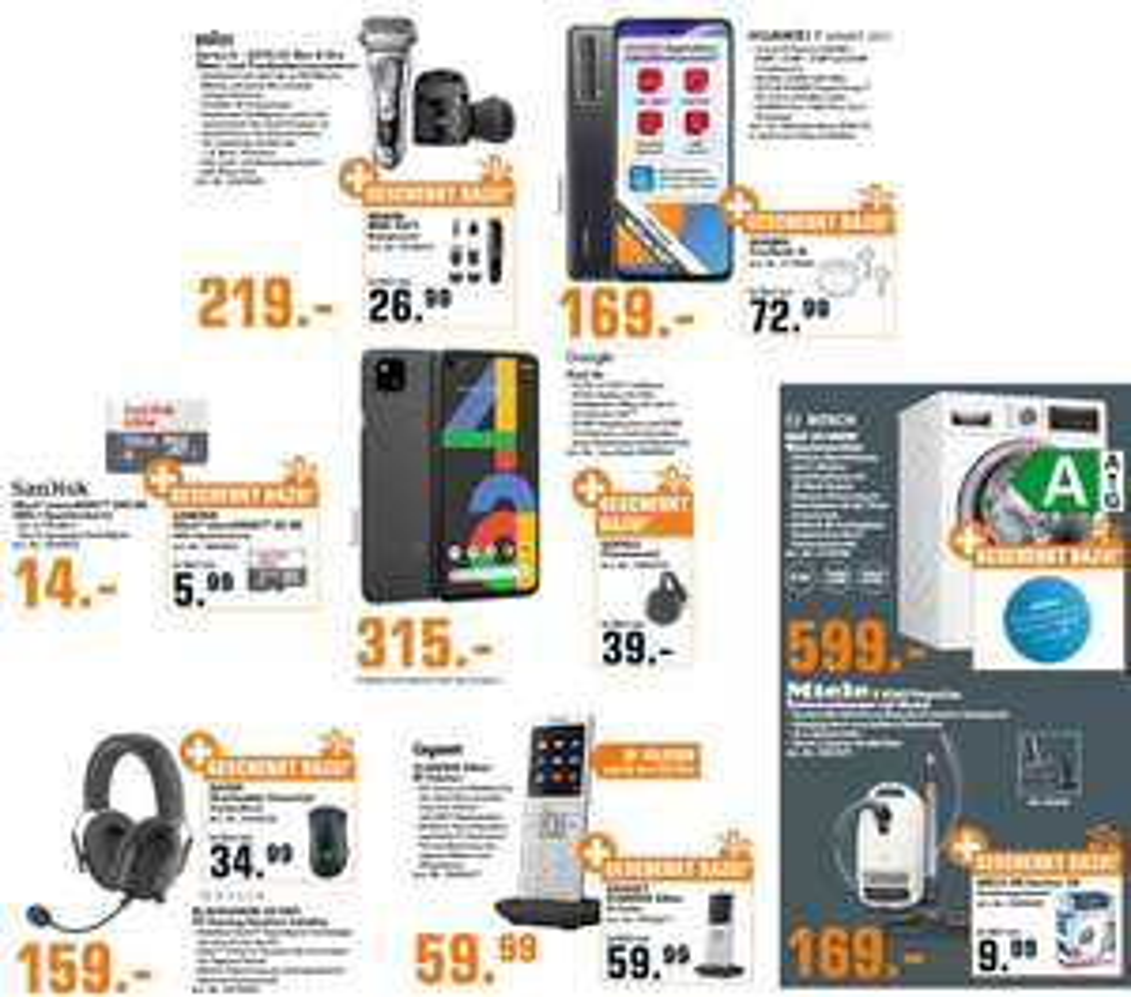 Google Pixel 4a + Chromecast 3rd - 305€   Razer Blackshark V2 Pro Wireless Headset + DeathAdder Essential 149€   Miele S 8340 - 159€   u.a.