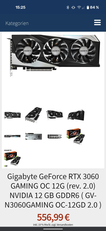 Gigabyte GeForce RTX 3060 GAMING OC 12G (rev. 2.0) NVIDIA 12 GB GDDR6 ( GV-N3060GAMING OC-12GD 2.0 )