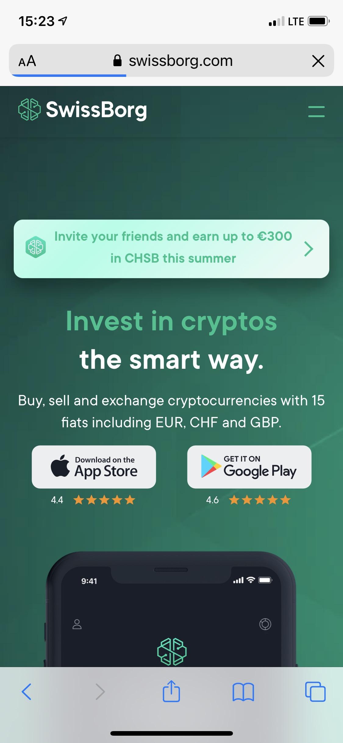 [crypto KwK] SwissBorg 3-300€ in CHSB bei 150€ Einzahlung für Werber und Geworbenen