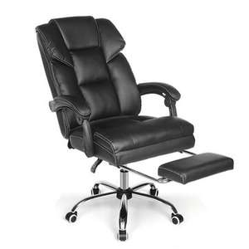 BlitzWolf BW-OC1 Bürostuhl Chefsessel Ergonomisches Design mit 150° verstellbarer Sitz Versenkbare Fußstütze PU-Material Lendenkissen