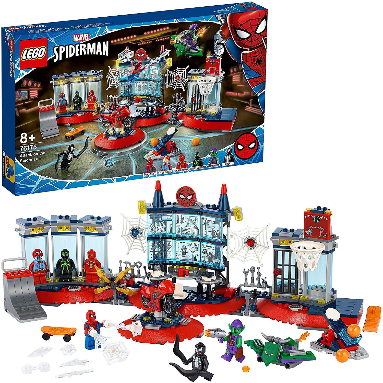 LEGO76175MarvelAngriffaufSpider-MansVersteckBausetmitGreenGoblinundVenomFiguren [Amazon]