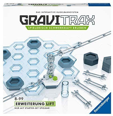 GraviTrax 27611 Ravensburger GraviTrax Erweiterung Lift - Ideales Zubehör für spektakuläre Kugelbahnen, Konstruktionsspielzeug