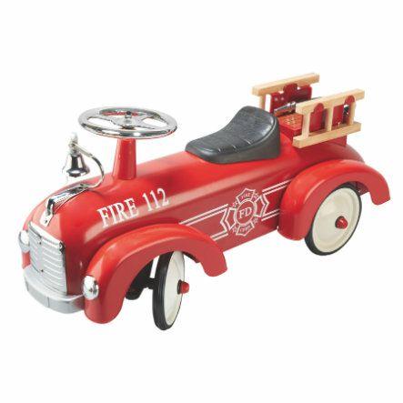 Tatü-Tata die Feuerwehr ist da. GOKI Rutscherfahrzeug Feuerwehr, Maße: 76 x 24,5 x 34,5 cm, Vorbestellung [weltbild.de]