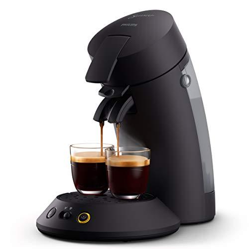 Philips Senseo Original Plus CSA210/60 Kaffeepadmaschine (Kaffeestärkewahl, Kaffee Boost Technologie, aus recyceltem Plastik), schwarz