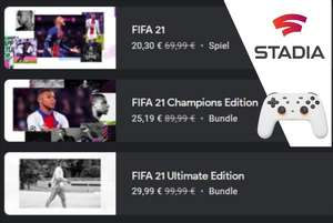 [Stadia] FIFA 21, Champions oder Ultimate Edition