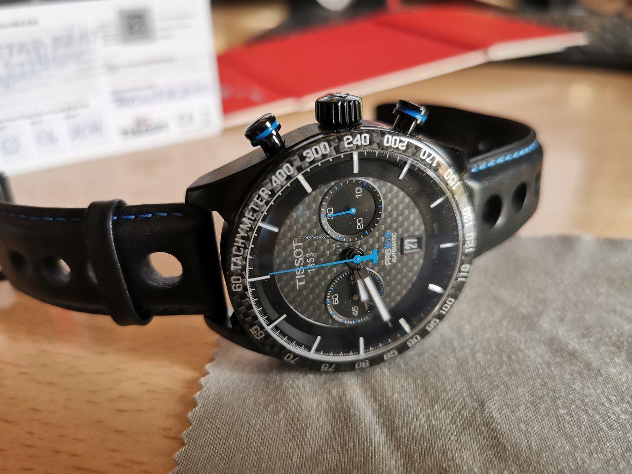 Tissot PRS 516 Automatikuhr Chronograph - 45mm - Valjoux 7753 - doppelt entspiegeltes Saphirglas