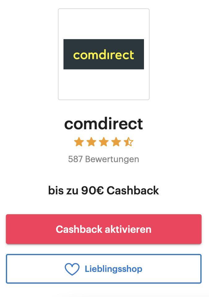 comdirect: 70€ + 50€ / 90€ Cashback für die Eröffnung eines Depots [Neukunden]