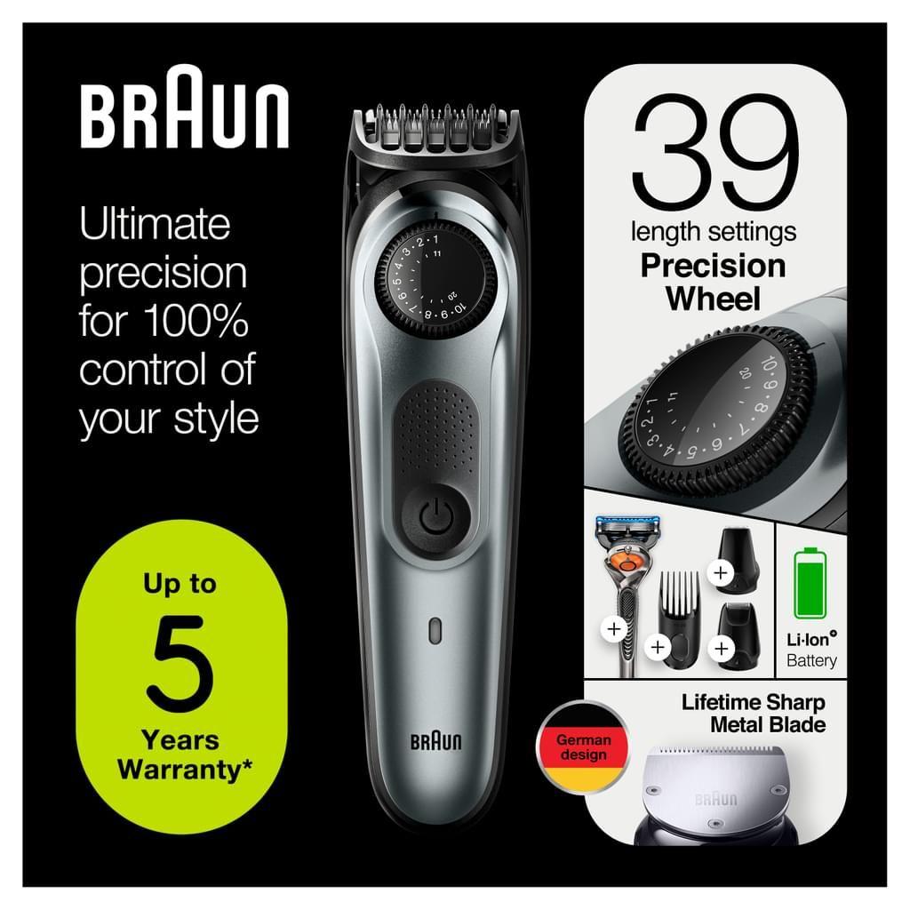 Braun BT7220 Barttrimmer und Haarschneider