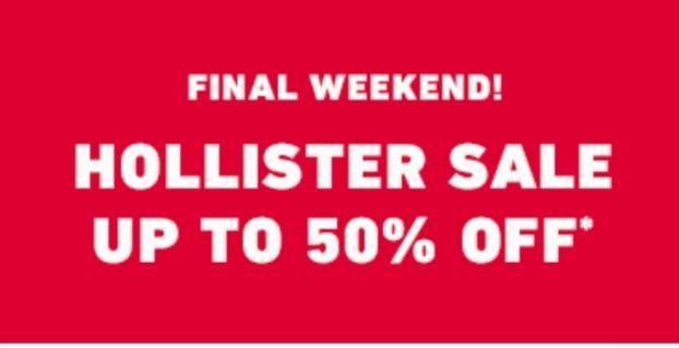 Hollister SALE [Bis zu 50%] 3er Set T-Shirt für 22,05€ exkl. Versand