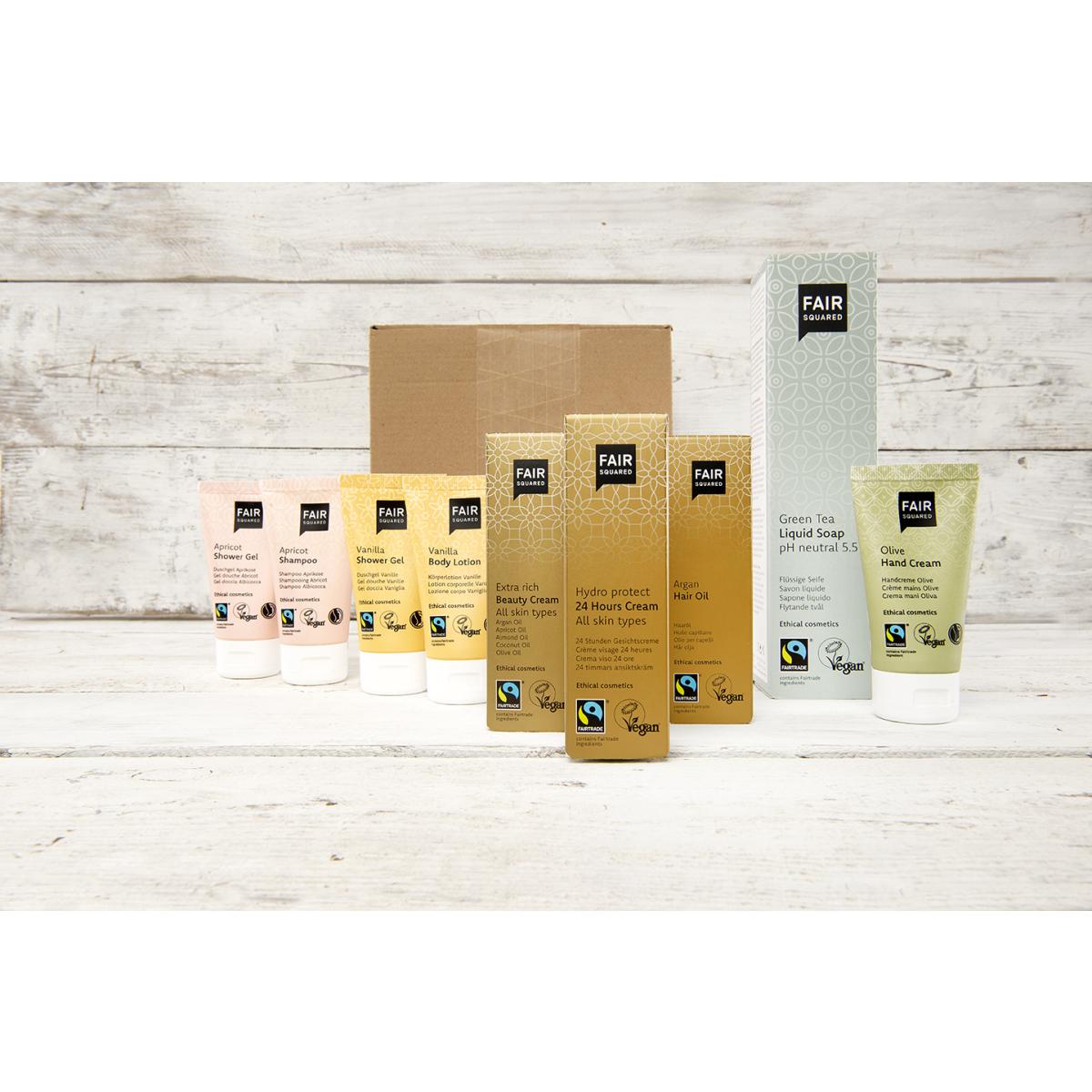 Faires Kosmetik-Testpaket (vegan) mit 9 Produkten
